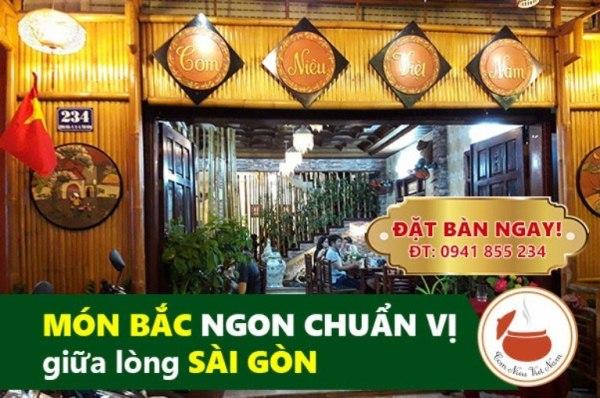 Địa chỉ nhà hàng quán ăn vị Bắc ở Sài Gòn